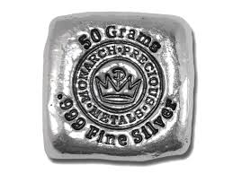 Monarch Metals 50 Gram Cube
